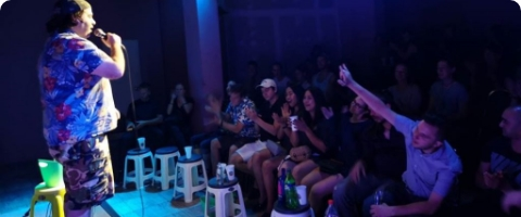 stand up comedy at khaosan comedy club